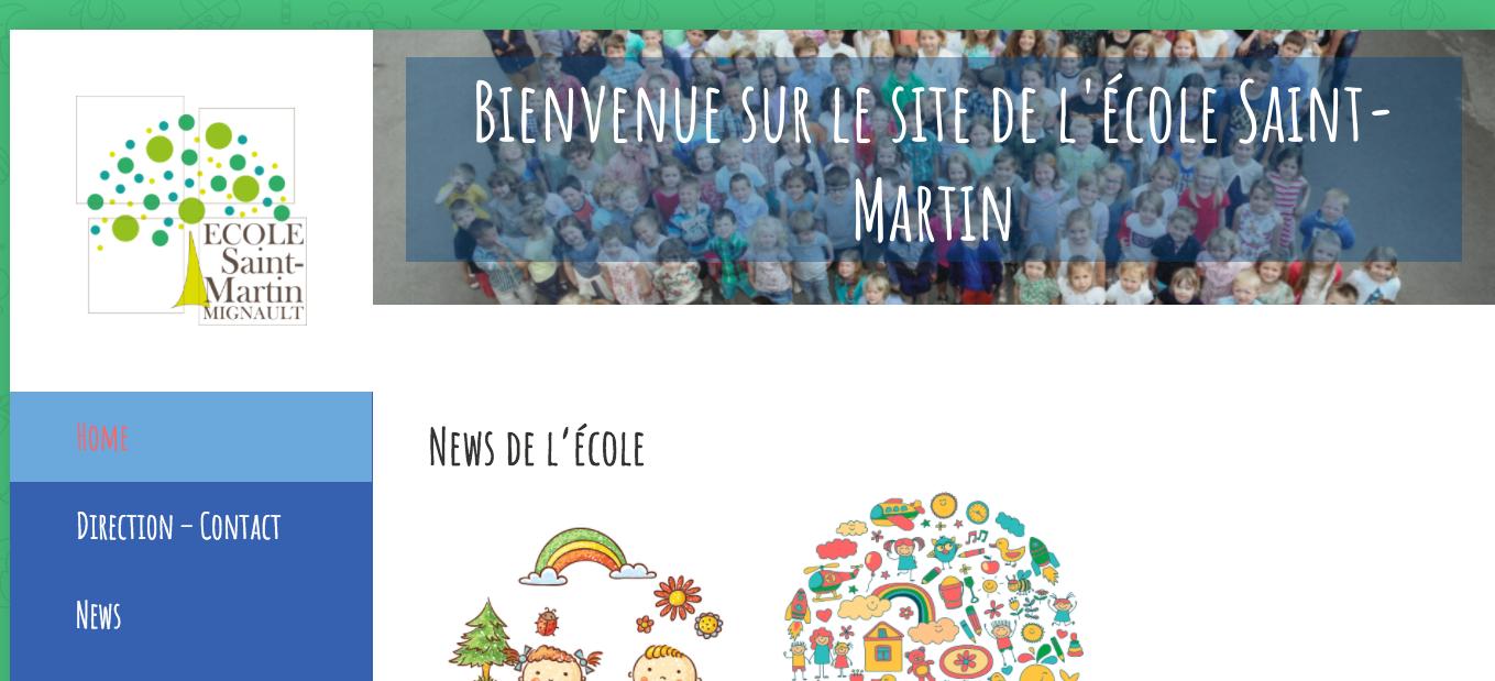 Création site internet école Saint-Martin de Mignault